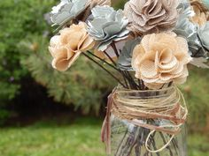 Rustic paper flower wedding centerpieces — Felicity Allyse ...