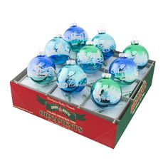 Radko Shiny Brite Winter Frost Ombre Signature Flocked Glass Ornaments -- Awesome products selected by Anna Churchill