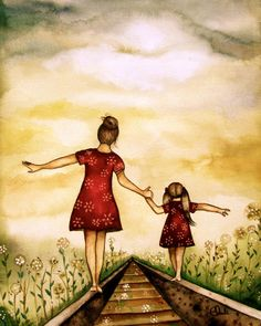 Titled - Our Path at Sunset in Autumn ღ makes me think of my Heather and I.... We were always so close and I thank God for sharing her with me, an amazing beautiful child. I was honored to be her mother ღ I love you and I miss you Heather ~ hope to see you soon .... MღM