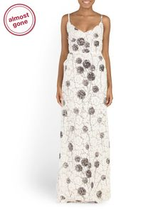 VALENTINO Made In Italy Lace Delicate Poppy Gown