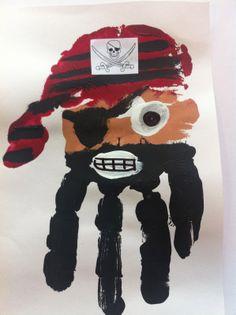 Handprint Art | Kids with a View: Pirate Handprint Art