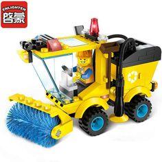Kota Jalan Penyapu Model Kit Bangunan Blok Blok Mainan untuk Anak Anak Dirakit Mainan Pendidikan Hadiah Natal Mainan 1101