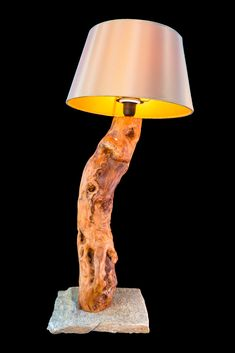 Table Lamp, Lighting, Ideas, Home Decor, Light Fixtures, Timber Wood, Homemade Home Decor, Table Lamps, Lights