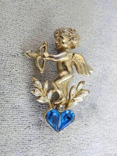 SALE  Coro Cupid Pin Heart Darling Vintage by victoriajamesdesigns, $15.00