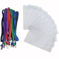 Large 3 x 5 Inch Large Badge and Credential Holders with Lanyards for VIP Badges by Specialst ID (Pack of 10) (Assorted Colors) -- Awesome products selected by Anna Churchill