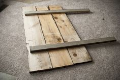 Wood headboard idea