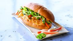 With two eggs on hand, you can make a fried egg banh mi (banh mi trung) -- breakfast for many people and my own favorite anytime food.
