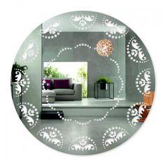 Okrúhle nalepovacie zrkadlo s ornamentom Plates, Mirror, Tableware, Furniture, Home Decor, Licence Plates, Dishes, Dinnerware, Decoration Home