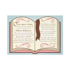 Storybook Baby Shower Invitations by youreinvited