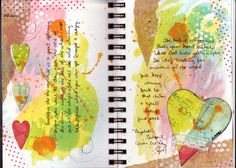 Journal Art Quotes | Here are the first two pages of my book…