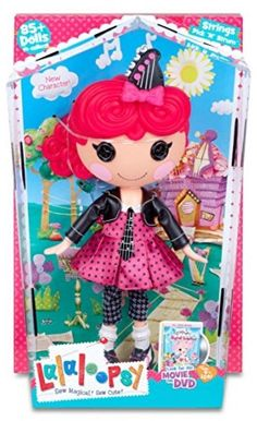 Lalaloopsy Doll- Strings Pick 'N' Strum Red Hair Rocker Fashion Doll #Lalaloopsy