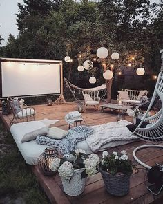 Bohemian Garden Backyard and Patio Ideas Outdoor Spaces, Outdoor Living, Outdoor Decor, Party Outdoor, Decoration Inspiration, Decor Ideas, Tv Decor, 31 Ideas, Style Inspiration