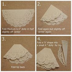 Card Making- paper doily use