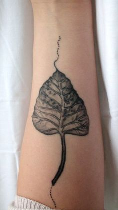 Leaf tattoo.