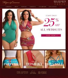 #plussize #swimwear {Sexy Saturday} 25% off Swimsuits at Hips and Curves | Pretty Pear Bride | Purchase here: http://shrsl.com/?~5k6f