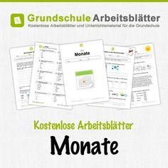 Kostenlose Arbeitsblätter und Unterrichtsmaterial für den Sachunterricht zum Thema Monate in der Grundschule.