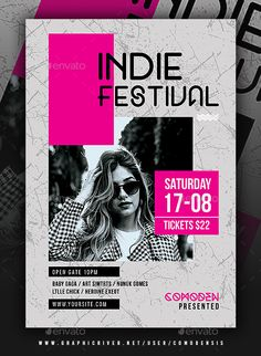 Indie Flyer Template PSD You are in the right place about Graphic Design product Here we offer you the most beautiful pictures about the Graphic Design photoshop you are looking for. When you examine Graphic Design Flyer, Design Brochure, Event Poster Design, Creative Poster Design, Creative Flyers, Creative Posters, Poster Designs, Flyer Layout, Poster Layout