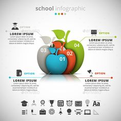 School Infographic — Photoshop PSD #layout #template • Available here → https://graphicriver.net/item/school-infographic/11285094?ref=pxcr