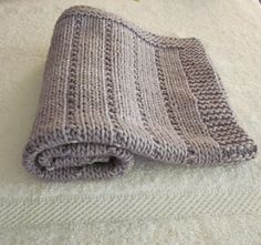 Easy... Knit And Purl baby blanket