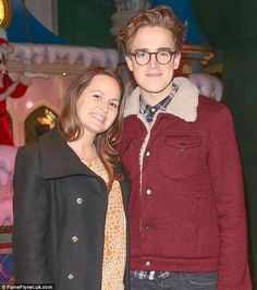 Tom and Giovanna at Disney Store Christmas party