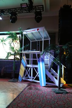 Custom designed DJ booth/lifeguard stand