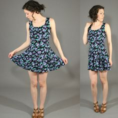 Vintage 1990's Baby Doll Mini Floral Sundress / by SeamlessVintage, $18.00