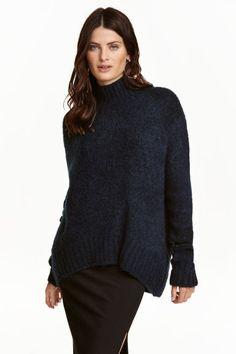 Camisola gola alta em malha | H&M