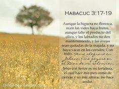 DEVOCIONAL DIARIO Habacuc 3:17 Aunque la higuera no florezca,   Ni en las vid...