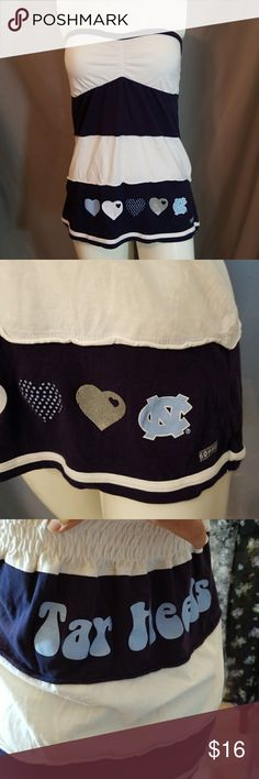 """✔4 for $25✔UNC TAR HEELS TUBE TOP 💲4 for $25 ( all listed as 4 for $25)💲  💸9 for $50 ( ONE FREE)💸  🎯14 for $75 ( TWO FREE)🎯  😉EARN EXCLUSIVE """"REWARDS DOLLARS"""" WITH EVERY PURCHASE. USE WITH ANY SALE. 👍  Why SHOP MY Closet? 💋Most NWT or worn once 💋Smoke /Pet free 💋OVER 400 🌟🌟🌟🌟🌟RATINGS  💋TOP 10% / TOP RATED 💋 FAST SHIPPER  💋20% OFF BUNDLES 💋DAILY SPECIALS/ NEW LISTINGS 💋REWARDS PROGRAM  💋EARN FREE $$$ Soffe Tops"""