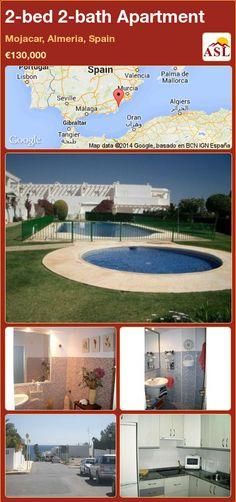 2-bed 2-bath Apartment in Mojacar, Almeria, Spain ►€130,000 #PropertyForSaleInSpain