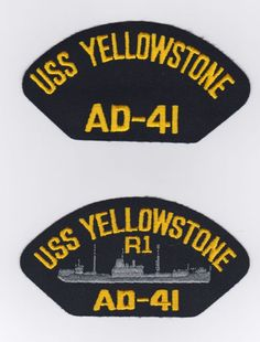 USS YELLOWSTONE AD-41 - 1  These original hat patch is for sale for $2.00 ea including s & h.  Contact ussforrestalcva59@gmail.com
