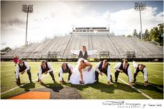 Fun on the Field ... By TimeSmart Images, #Pittsburgh Wedding Photographer, #Wedding on Football Field, #Football Wedding, #football stadium wedding pics, #Wedding Oics with Football, photo by: Francine Smith, TimeSmart Images