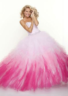 Shop Now Paparazzi by Mori Lee 91001cosmopolitan pink ball gown prom dresses available at RissyRoos.com.