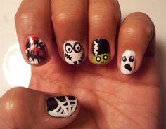 Halloween nail art '13