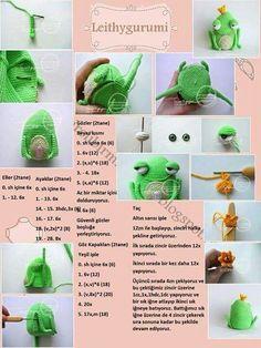 Photo - Her Crochet Crochet Motifs, Crochet Doll Pattern, Crochet Patterns Amigurumi, Knit Or Crochet, Amigurumi Doll, Crochet Toys, Crochet Baby, Free Crochet, Accessoires Divers