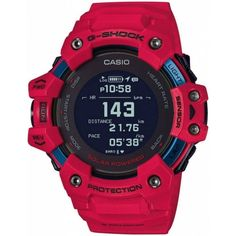 Casio G-shock, Casio Watch, G Shock Watches, Watches For Men, Offline Mode, G Shock Red, Squad, Target Heart Rate, Shopping