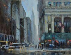 "Chrysler Building, New York City 11""x14"" Oil on canvas by Hall Groat II"