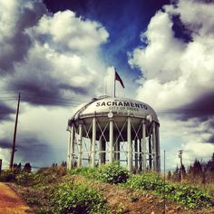Sacramento, California.  You pass this water tower on the way to Intake Screens, Inc!