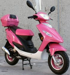 Pink Panther Maui Moped, this would be cute to get around on in a nice beach town! Honda Scooters, Motor Scooters, Pink Moped, Scooter Storage, Popular Wedding Dresses, Scooter Motorcycle, Kids Scooter, Pink Panthers, School