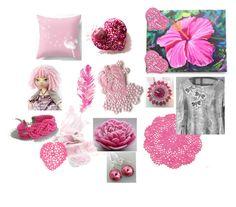"""Pinks!"" by keepsakedesignbycmm ❤ liked on Polyvore featuring Cadeau"