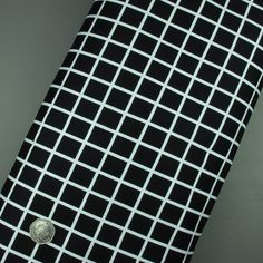 Stretch Cotton Fabric Black And White Check Print - Sold Per Metre - 100cm x 145cm - 155g/m2 - 95% Cotton 5% Spandex: Amazon.co.uk: Kitchen & Home