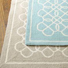 Suzanne Kasler Geometric Hand Hooked Rug by Ballard Designs; I love a hand hooked rug!
