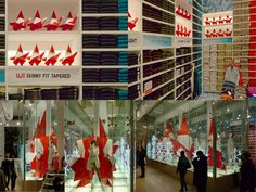 Origami Santas for UNIQLO  Holiday Installation for Uniqlo's New York Soho Flagship Store (December 2011)