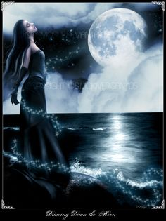Drawing Down the Moon by cosmosue.deviantart.com on @deviantART