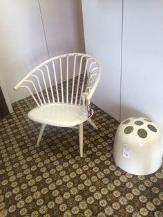 Crinolette Chair by Ilmari Tapiovaara for Asko , umbrella stand Dedalo by E. Gismondi for Artemide