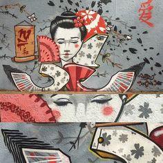 #japan #nzie #graffiti #graffitiart #graffitiwall #mural #details #japanese by nziegram Japanese Graffiti, Street Art Graffiti, Pictures, Photos, Artisan, Instagram Posts, Cards, Inspiration, Biblical Inspiration