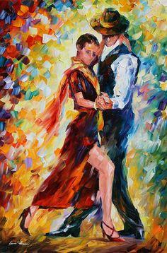 Romantic Tango Painting - Romantic Tango Fine Art Print