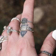 ❉ Bohemian Shop Dixi Rings from our Sunset Lovers collection in store now! ❉ ✒ Shop The Magic Now @ www.shopdixi.com // boho // bohemian // jewellery // jewelry // grunge // witchy // thumb // sterling silver // ring // hippie // summer // ocean // beach // moonstone // sunrise // sunshine // wave // dreamer // flower // lookbook