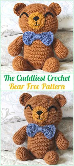 Crochet Stuff Bears Patterns The Cuddliest Crochet Bear Free Patterns—- Amigurumi Crochet Teddy Bear Toys Free Patterns - Kawaii Crochet, Cute Crochet, Crochet Crafts, Crochet Baby, Crochet Projects, Diy Crafts, Beautiful Crochet, Easy Crochet, Crochet Teddy Bear Pattern