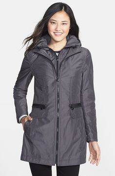 Laundry by Shelli Segal Packable Anorak with Detachable Hood Insert (Regular & Petite) (Online Only) available at #Nordstrom